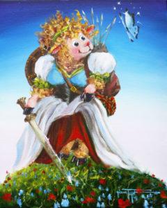 Lass of Legends Sheep Art